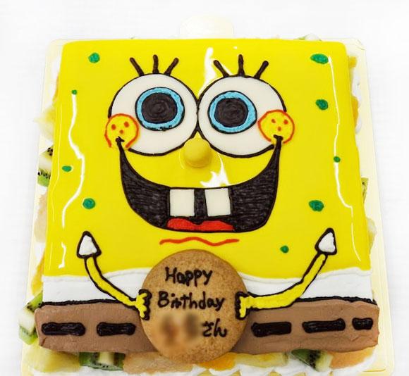 スポンジボブ-キャラクターケーキ
