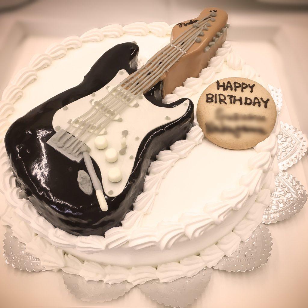エレキギターの3Dケーキ-2