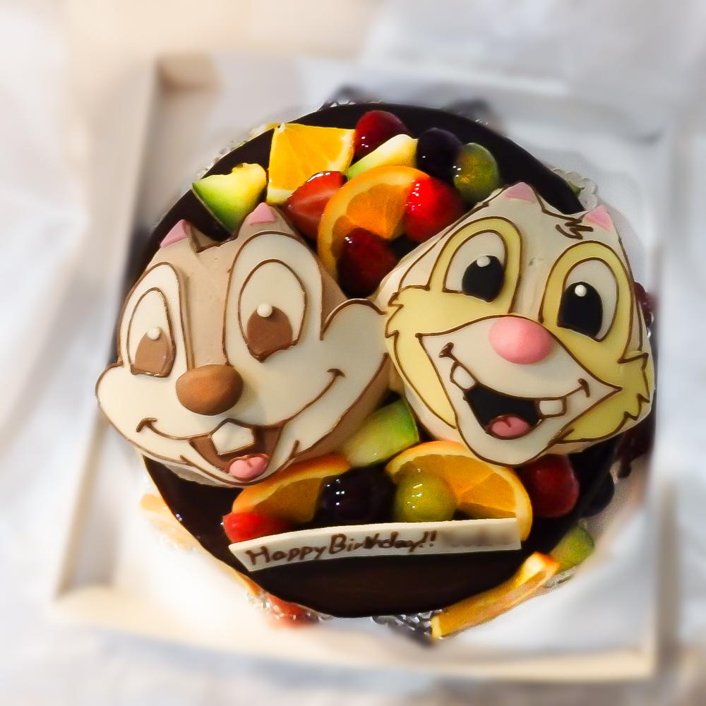 チップとデールのキャラクターケーキ