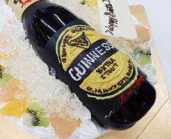 ギネスビールのケーキ