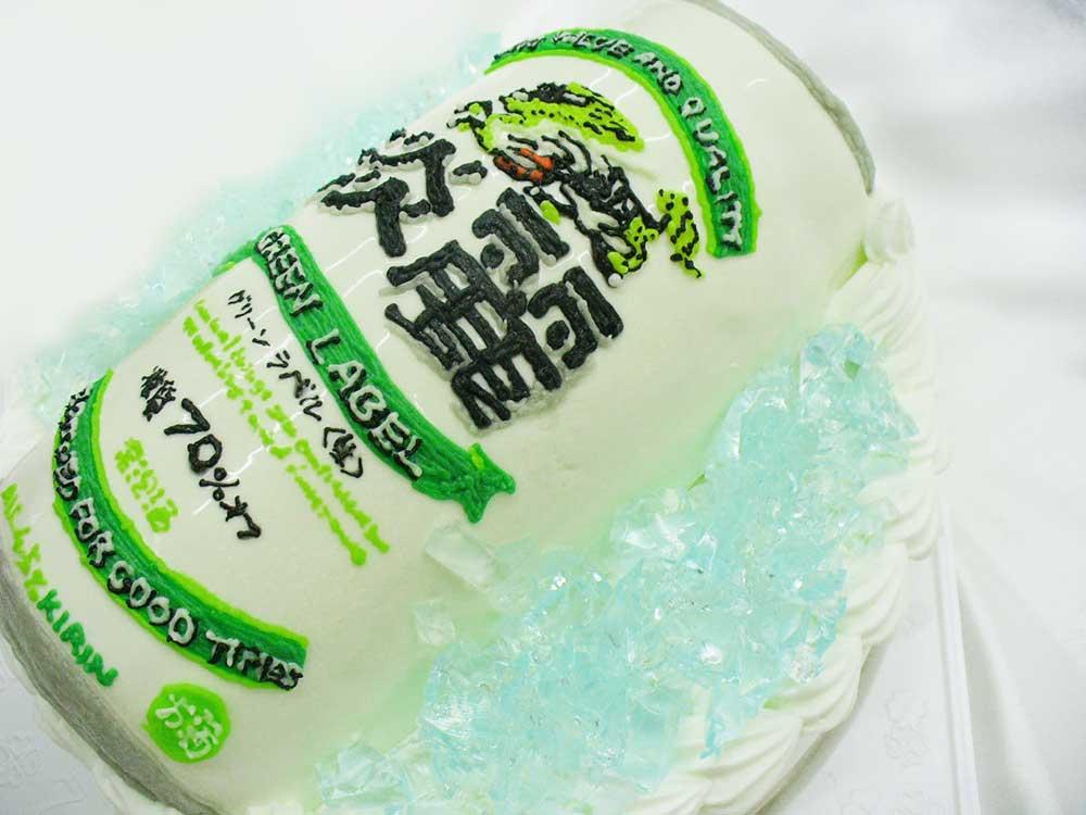 缶ビールの超立体ケーキ