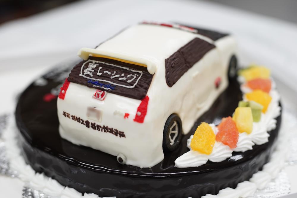 車の3Dケーキ シビックタイプR20180319