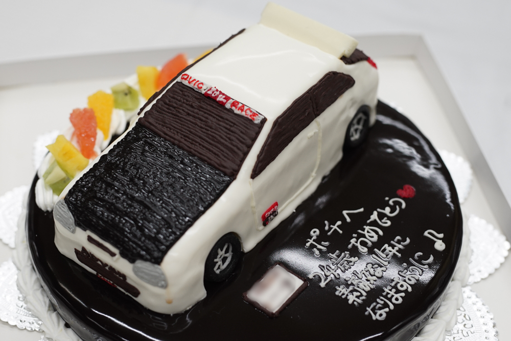 シビックタイプR車のケーキ20180319