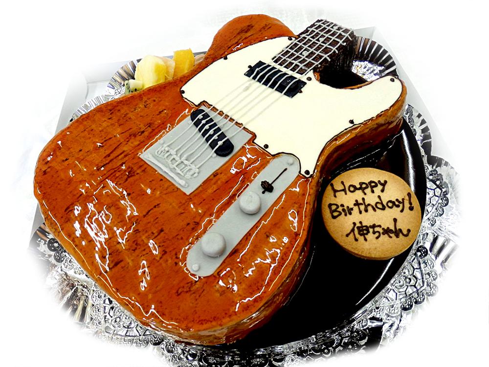 テレキャスターギターの3Dケーキ