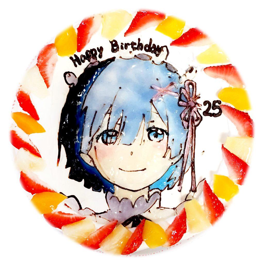 リ・ゼロから始めるレムの似顔絵ケーキ