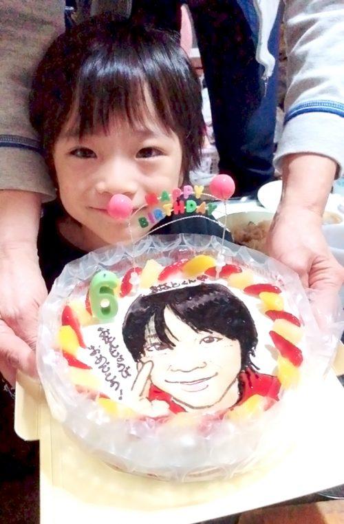 似顔絵ケーキ-子どもの誕生日