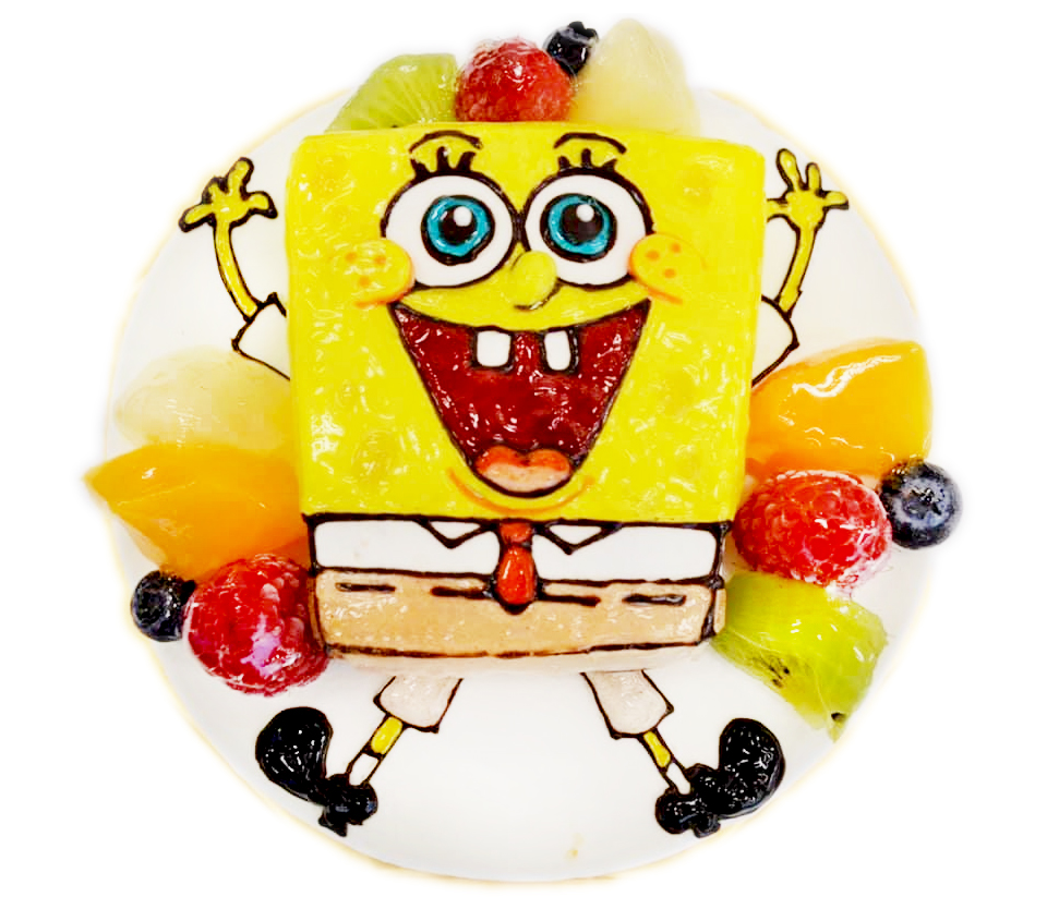 スポンジボブ3Dケーキ