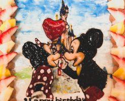 ミッキー&ミニー似顔絵ケーキ