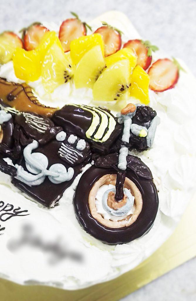 Kawasaki バイクの3Dケーキ