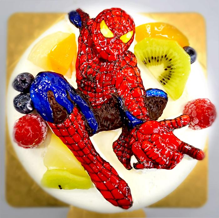 スパイダーマン-3Dケーキ
