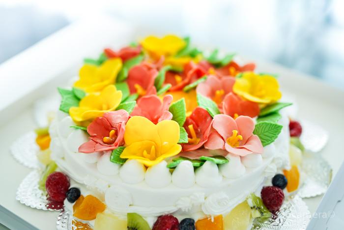 魔法のバースデーケーキ ハイビスカスのケーキ-2