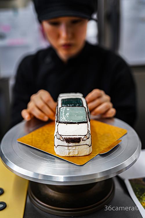 車の3Dケーキ-パティシエール