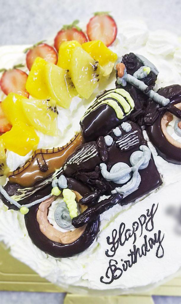 バイクの3Dケーキ-カワサキ