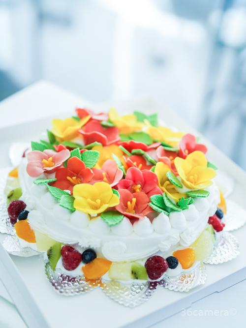 ハイビスカスケーキ 魔法のバースデーケーキ