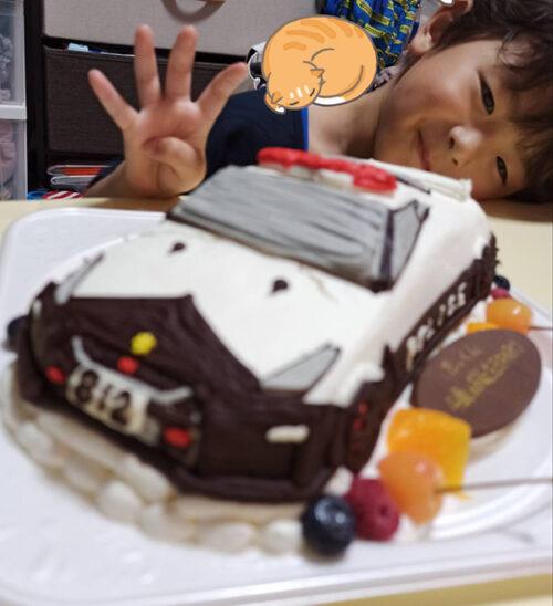 パトカーケーキ