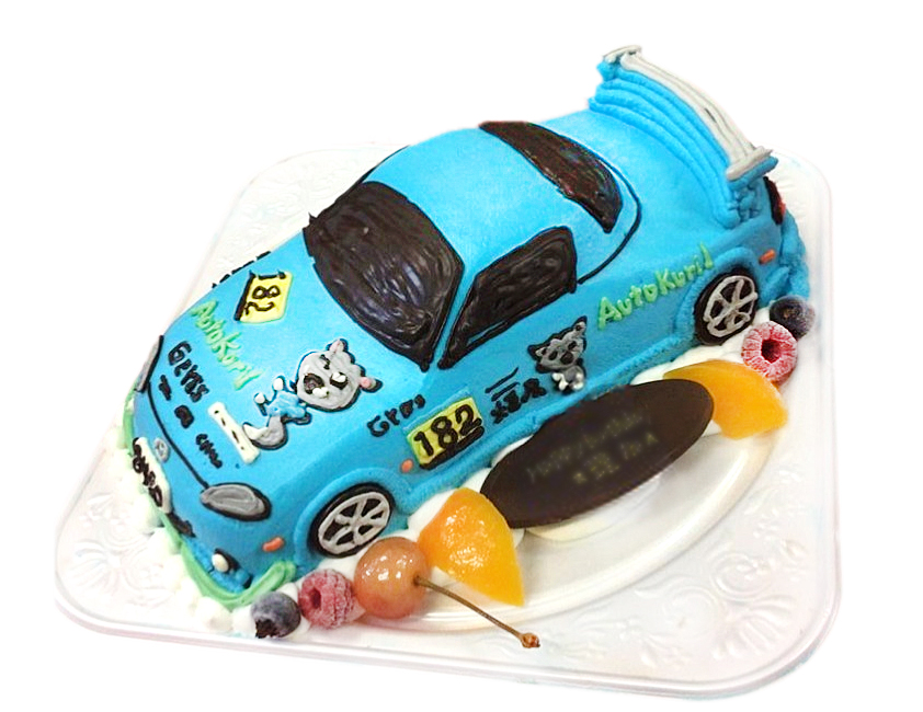 ロードスター車のケーキ