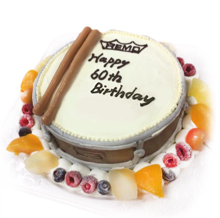 スネアドラム3Dケーキ-魔法のバースデーケーキ