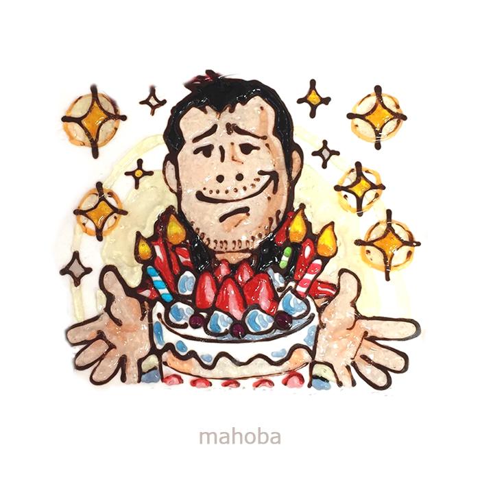 矢沢永吉-似顔絵ケーキ